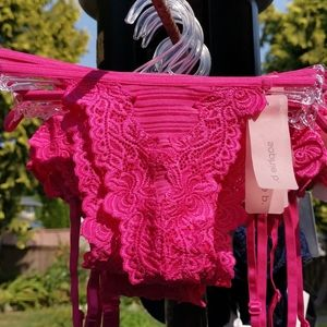 Sophie B. Pink Thong Bottoms